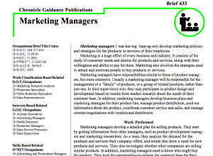 Marketing Manager Chronicle Guidance